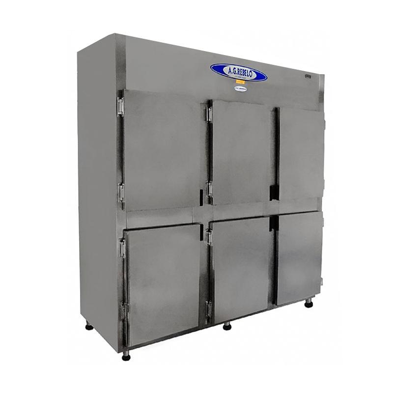 Refrigerador Inox de 6 Portas