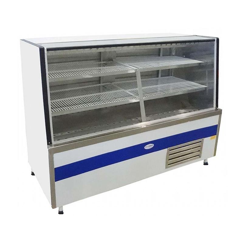 Vitrine Refrigerada de Vidro Reto com Ar Forçado