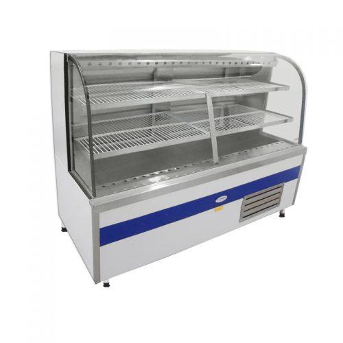Vitrine Refrigerada de Vidro Curvo com Ar Forçado